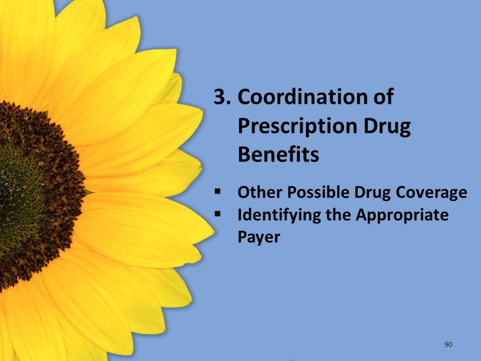 3. Coordination of Prescription Drug Benefits