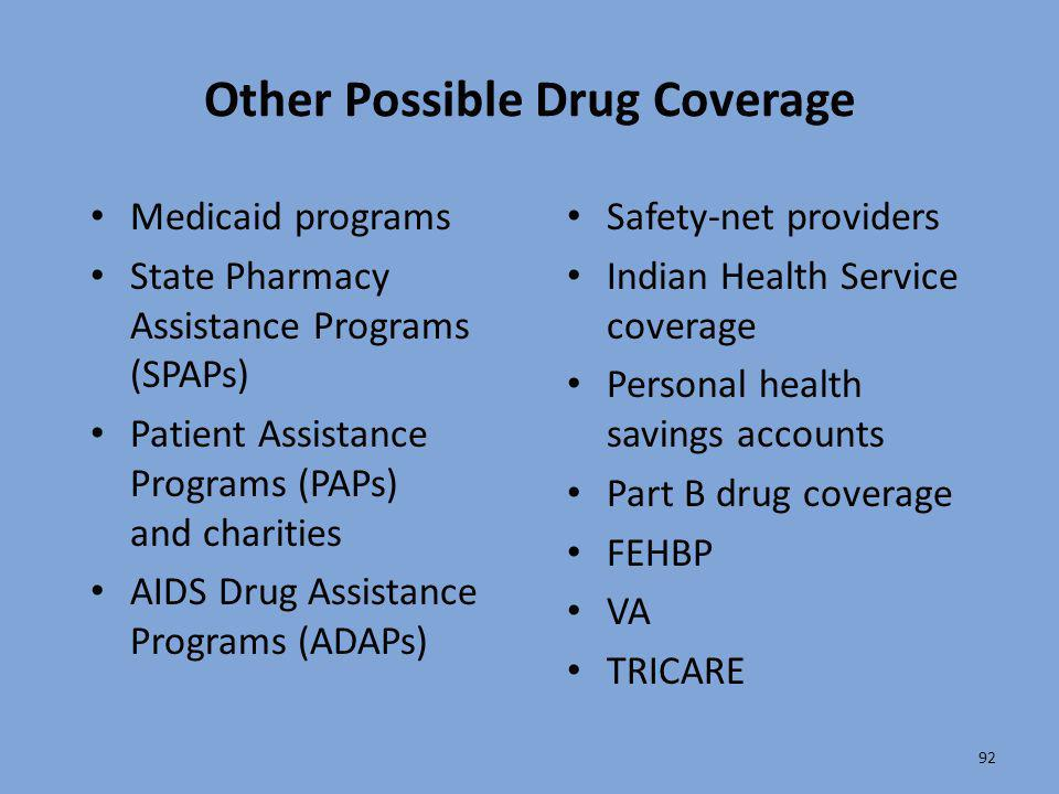 Other Possible Drug Coverage