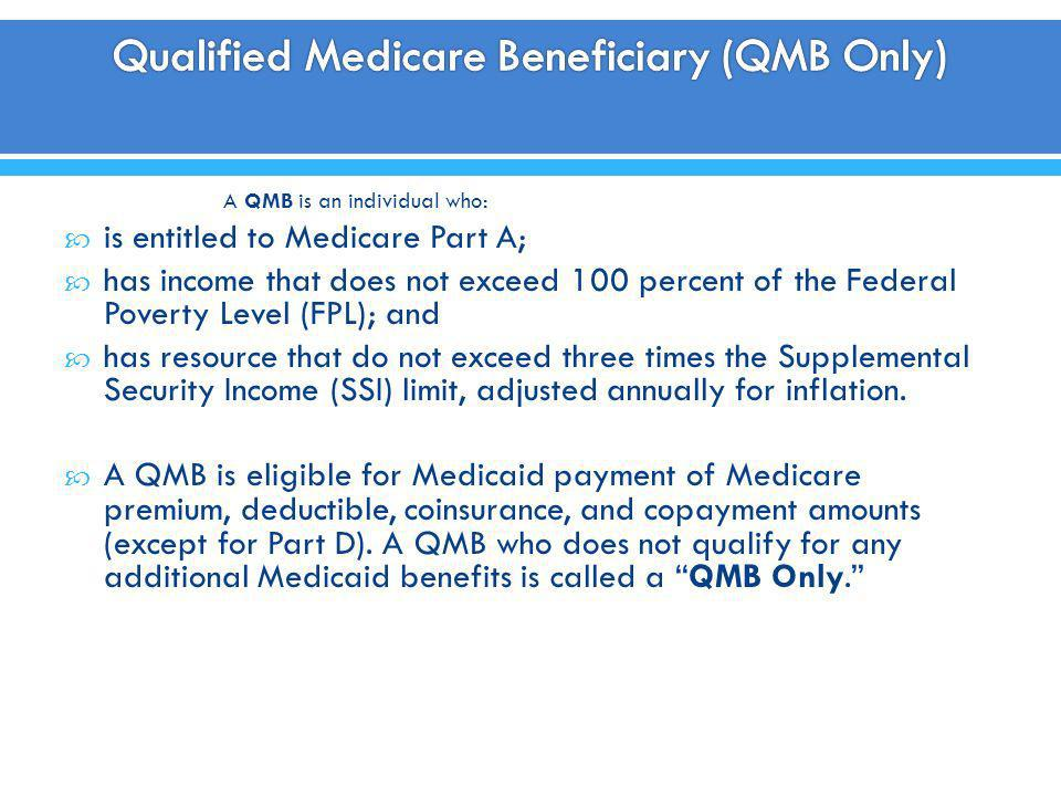 Qualified Medicare Beneficiary (QMB Only)