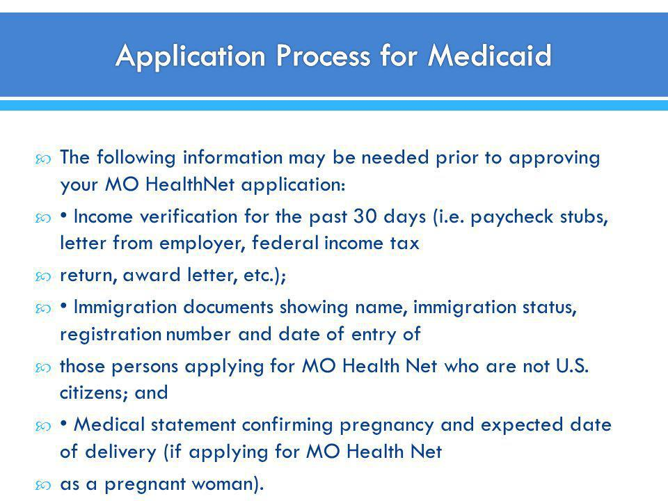 Application Process for Medicaid