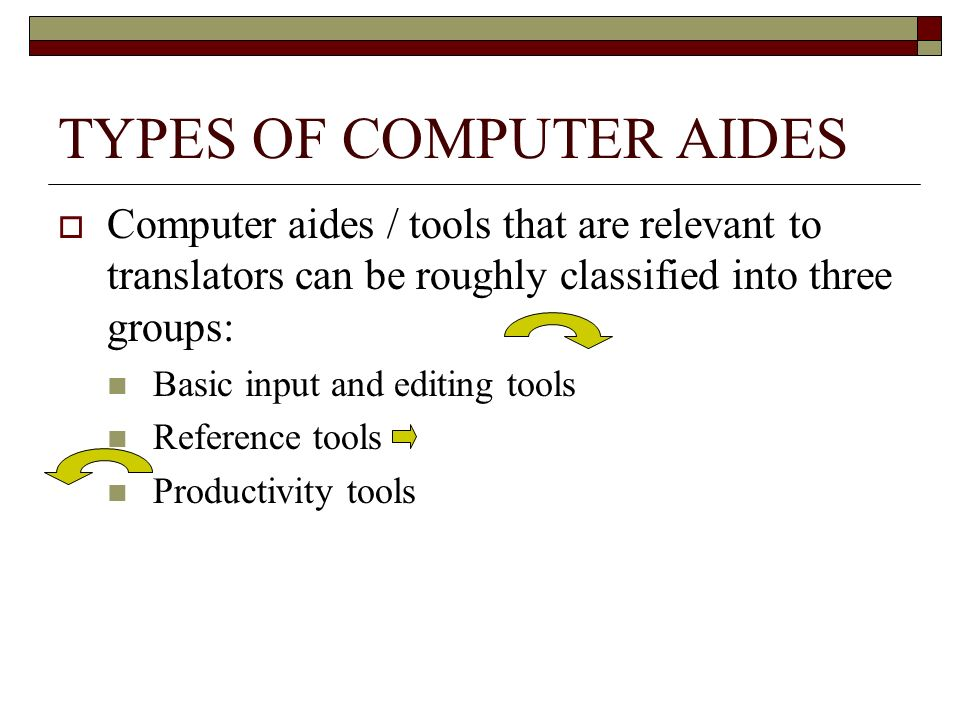 TYPES OF COMPUTER AIDES