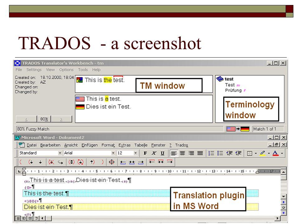 TRADOS - a screenshot