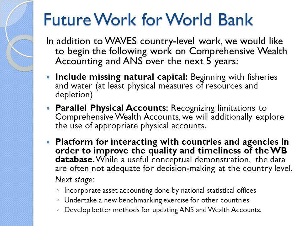 Future Work for World Bank