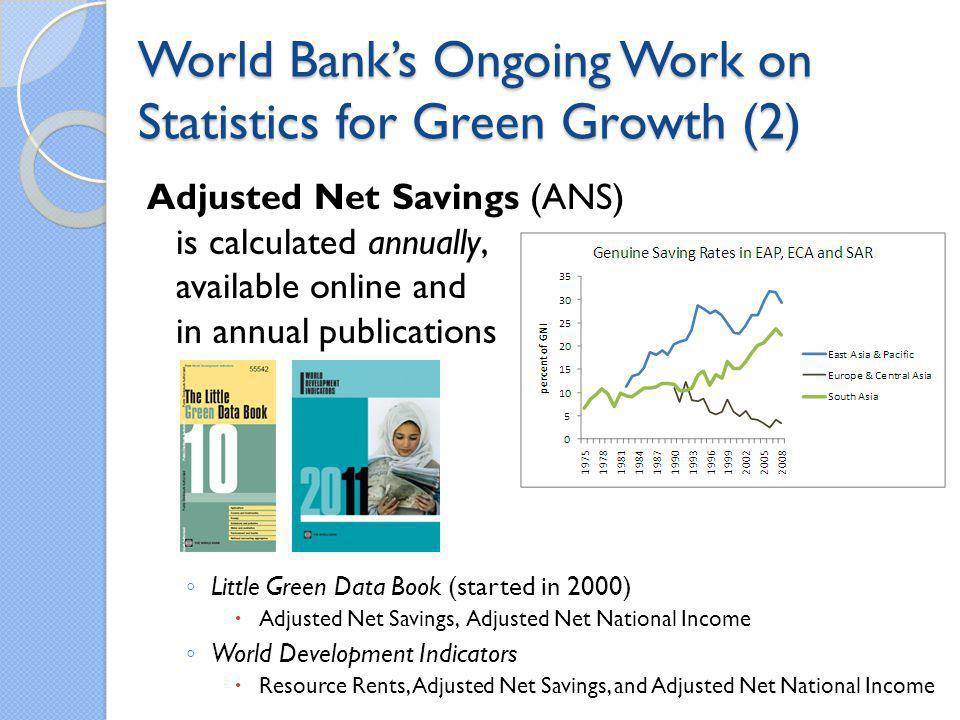 World Bank's Ongoing Work on Statistics for Green Growth (2)