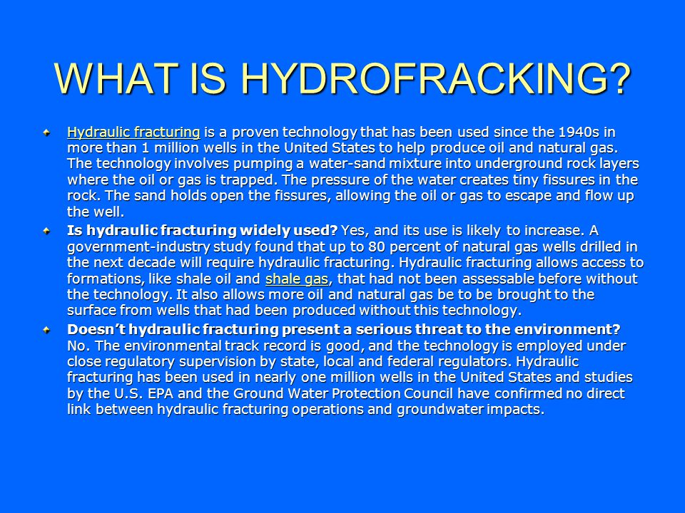 WHAT IS HYDROFRACKING