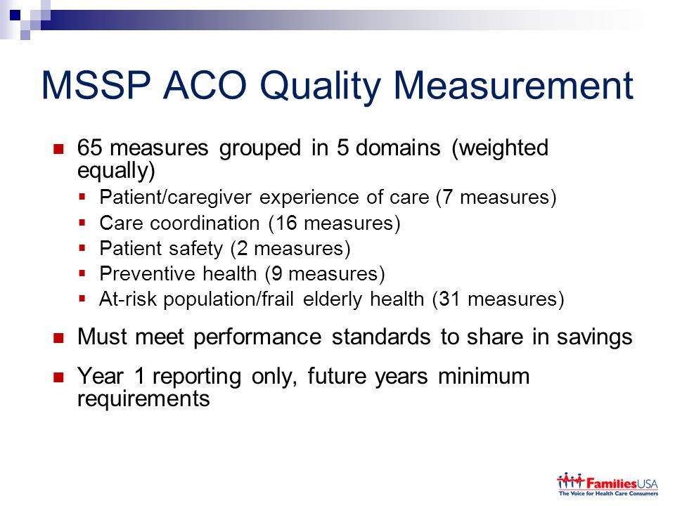 MSSP ACO Quality Measurement