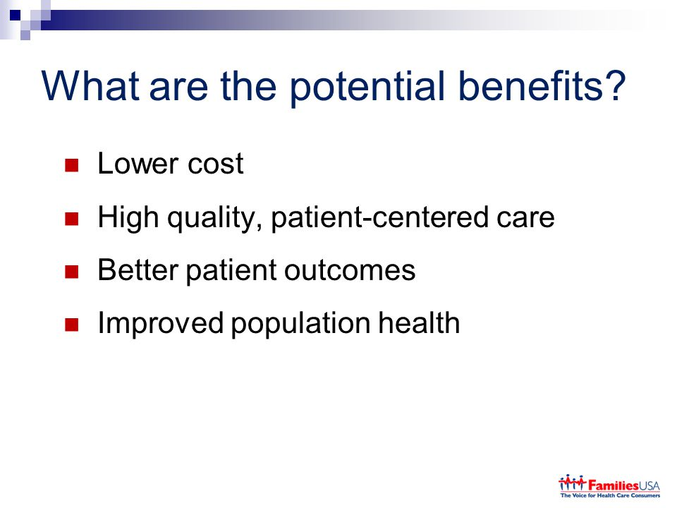 What are the potential benefits