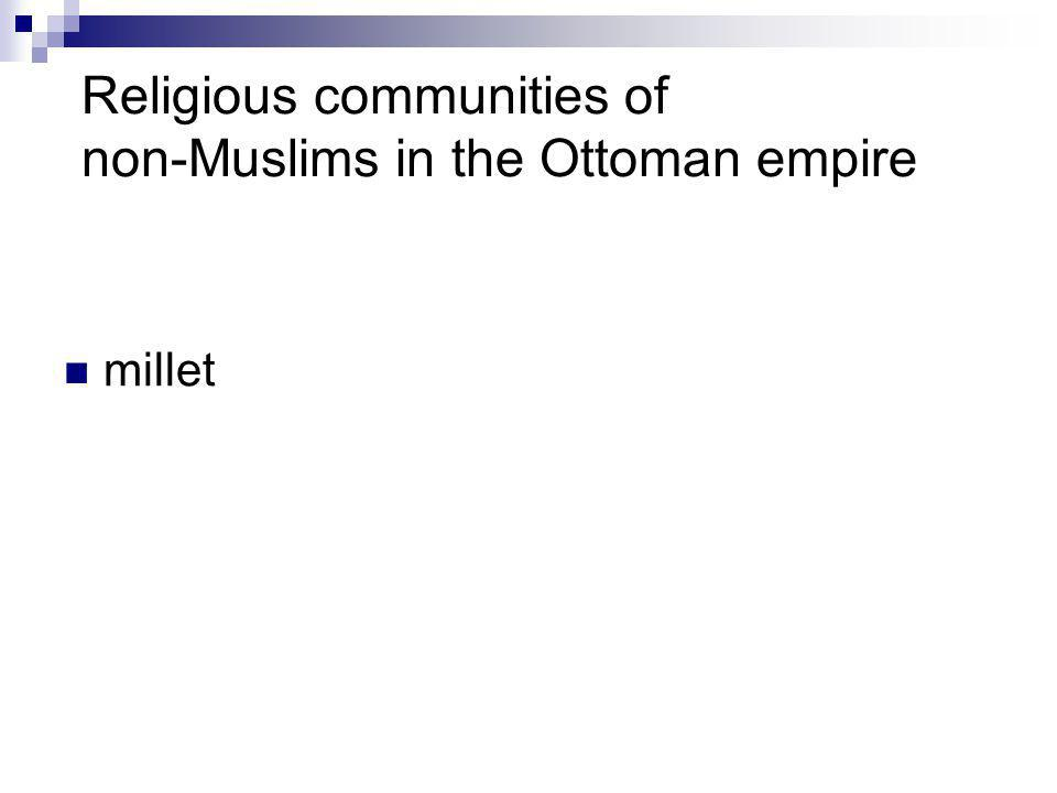 Religious communities of non-Muslims in the Ottoman empire