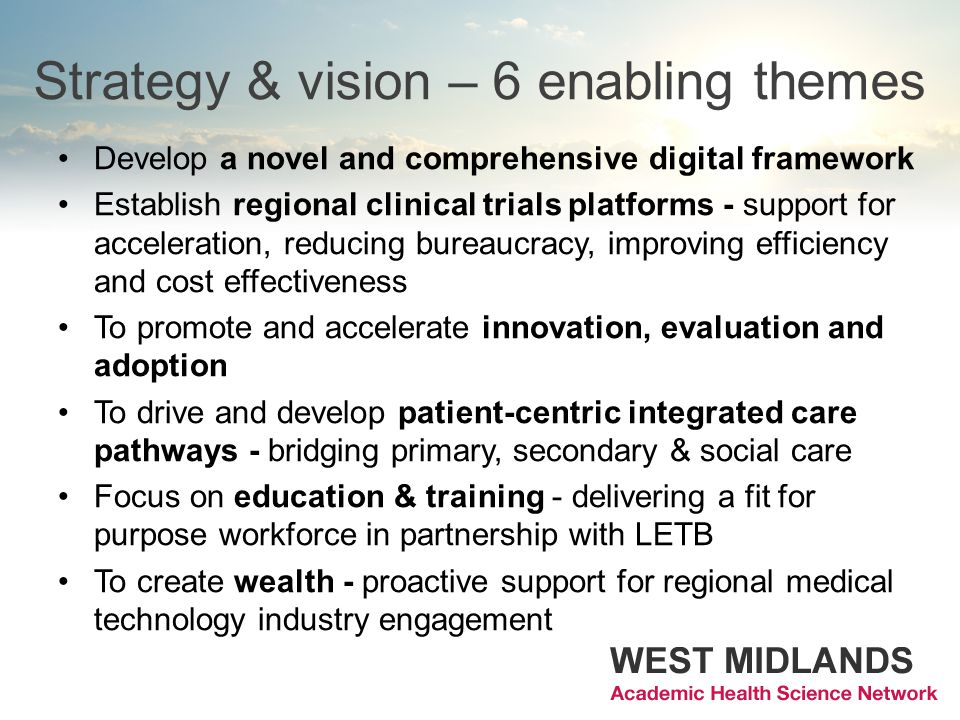 Strategy & vision – 6 enabling themes