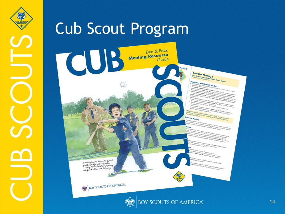 Cub Scout Program FPO 04/10/14 Say (in your own words):