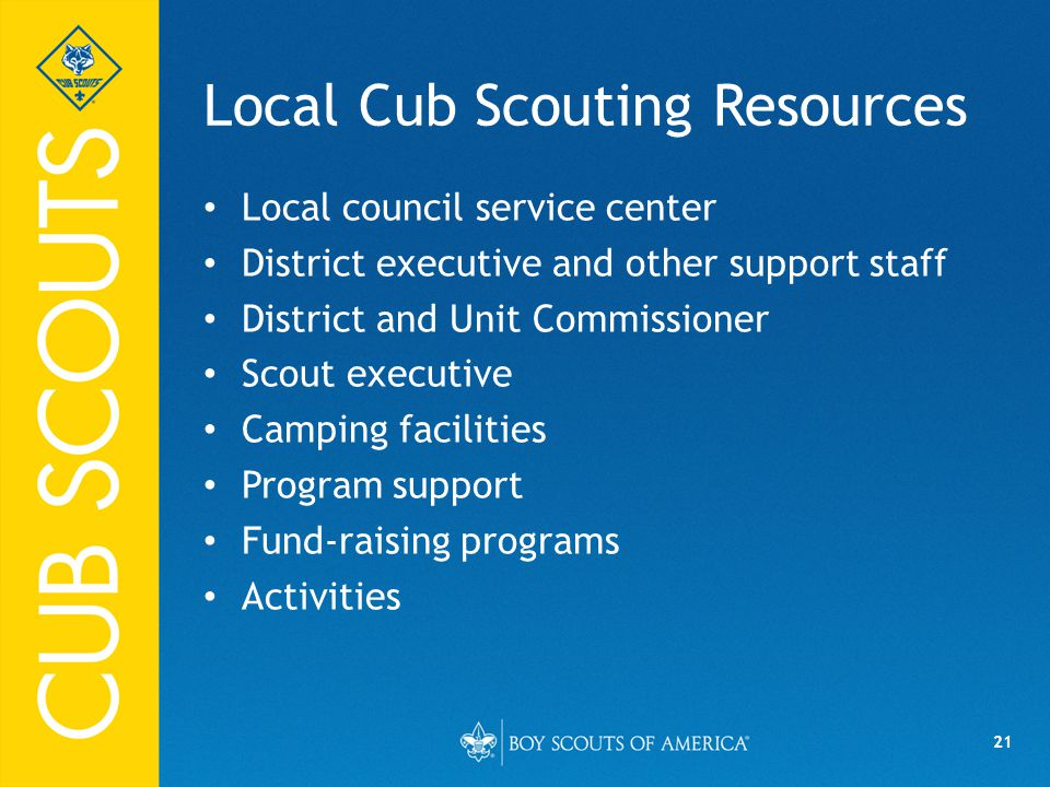 Local Cub Scouting Resources
