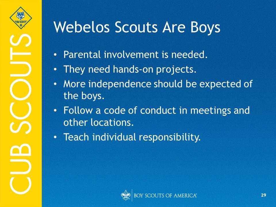 Webelos Scouts Are Boys