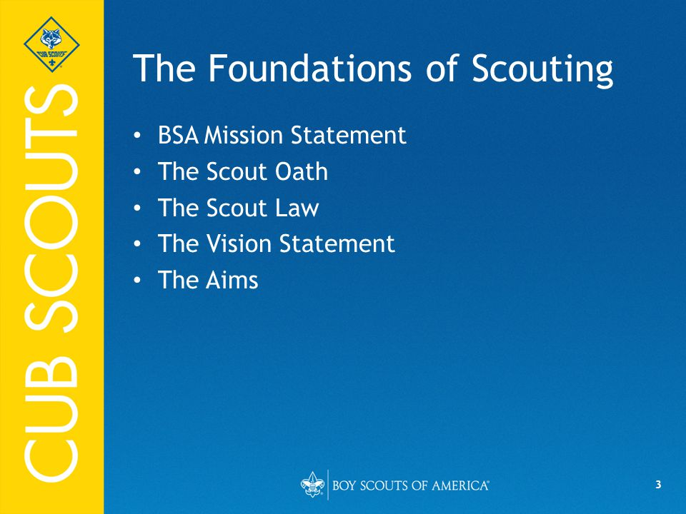 The Foundations of Scouting