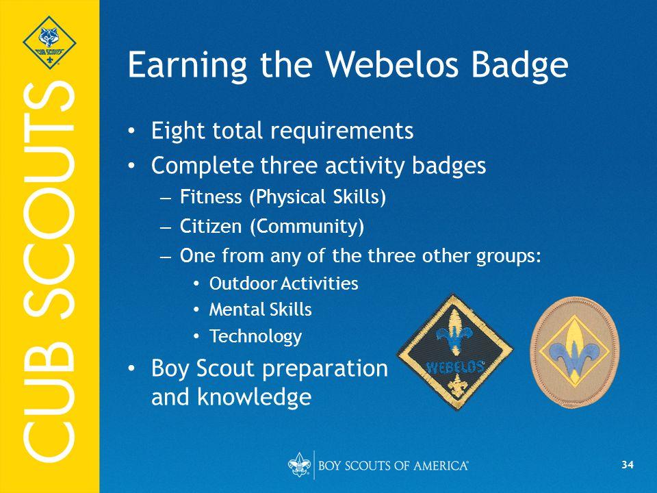 Earning the Webelos Badge
