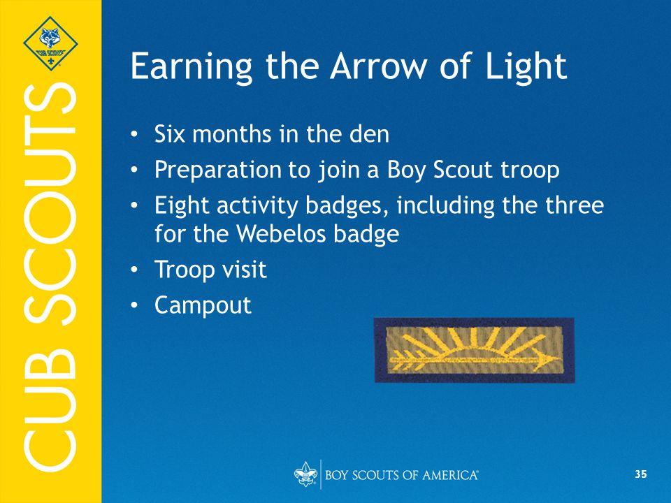 Earning the Arrow of Light