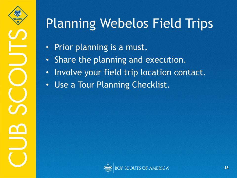 Planning Webelos Field Trips