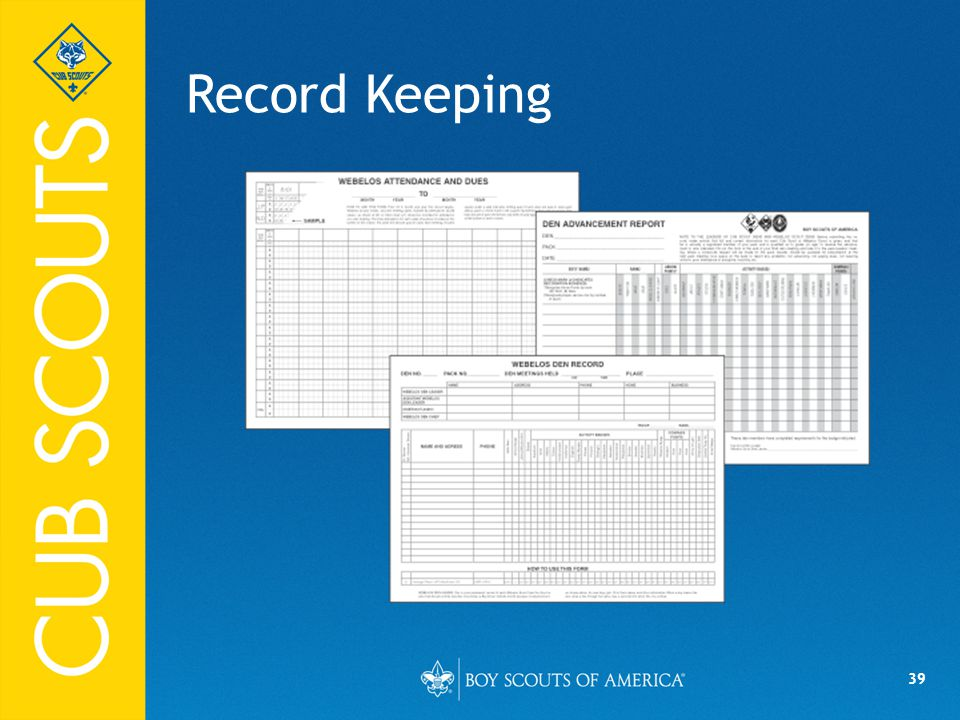 Record Keeping 04/10/14 39 Say (in your own words):