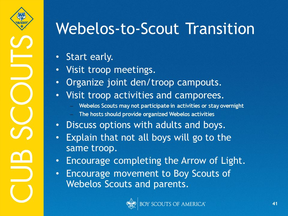 Webelos-to-Scout Transition