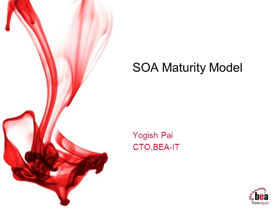 SOA Maturity Model Yogish Pai CTO,BEA-IT