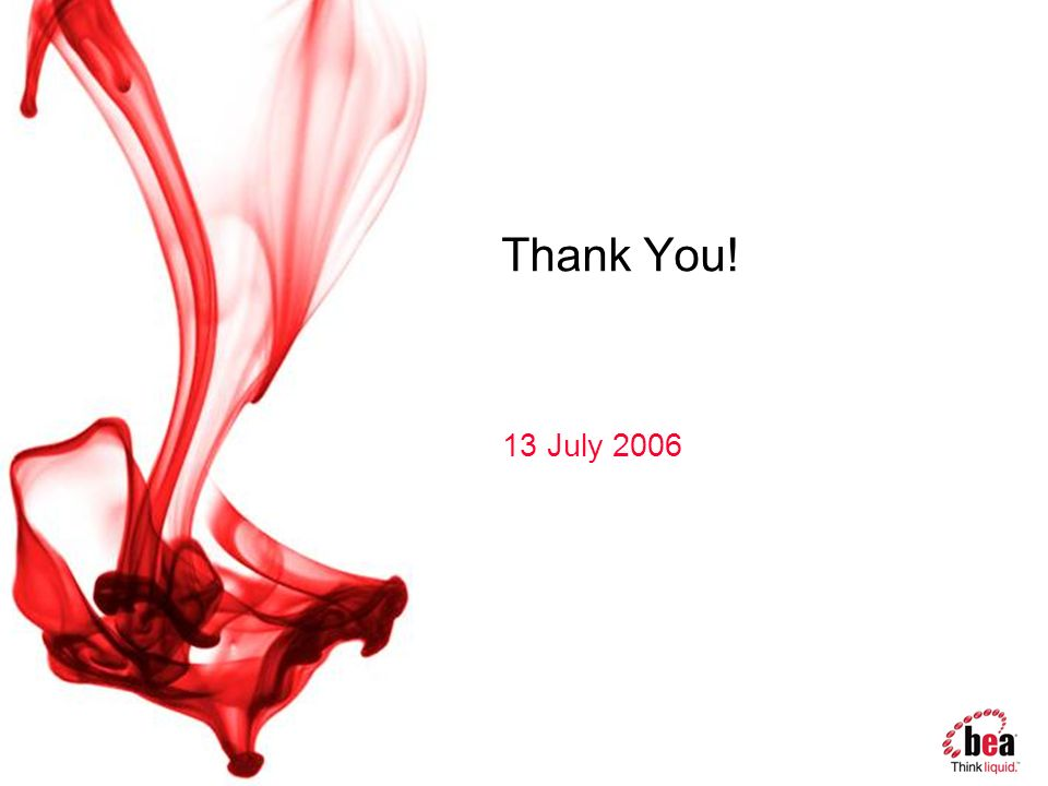 Thank You! 13 July 2006