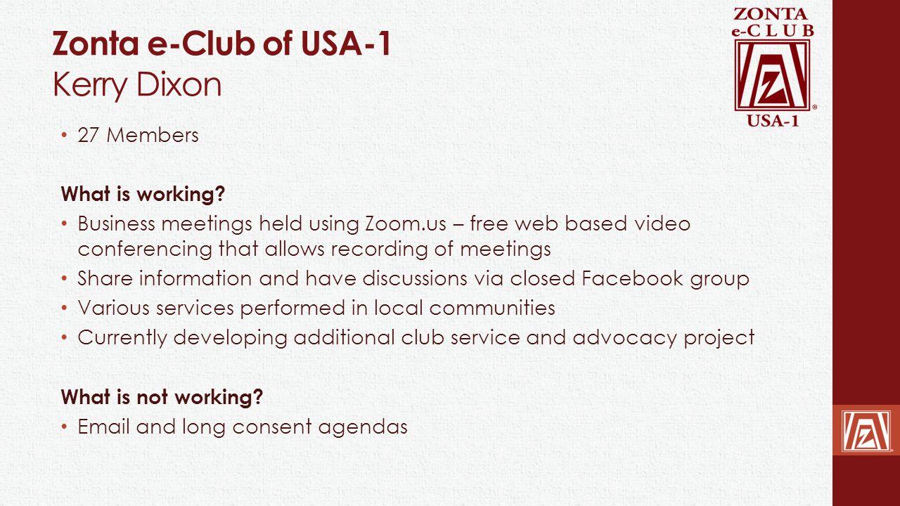Zonta e-Club of USA-1 Kerry Dixon