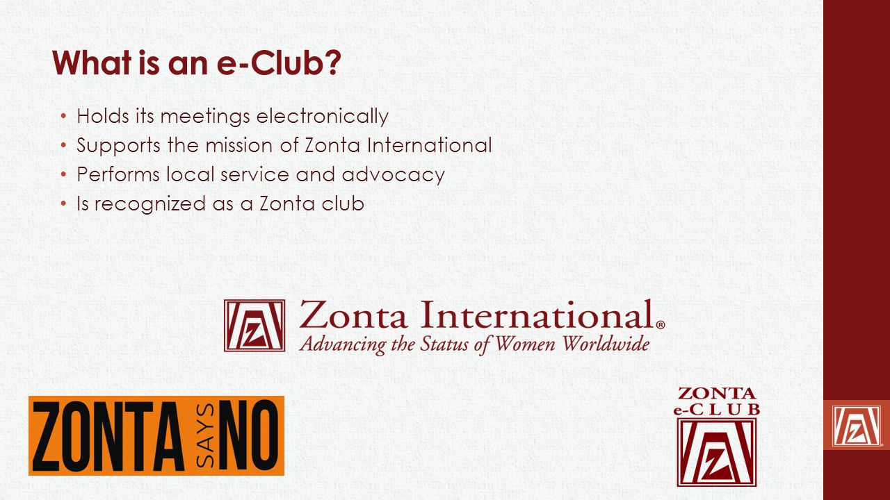 What is an e-Club Holds its meetings electronically