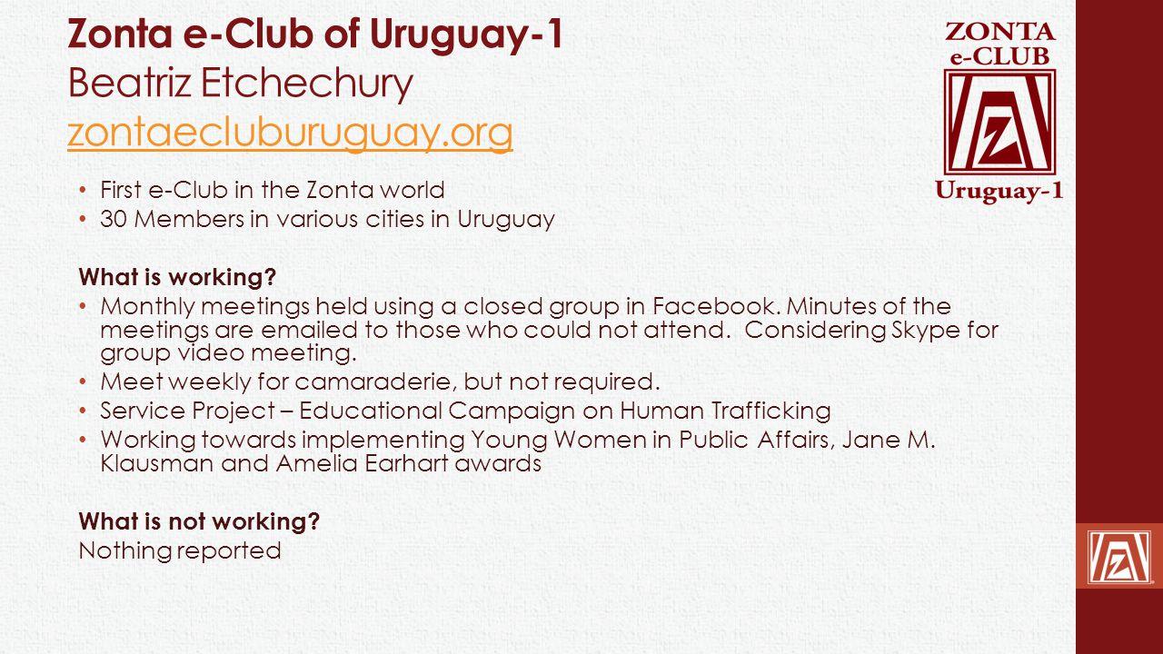 Zonta e-Club of Uruguay-1 Beatriz Etchechury zontaecluburuguay.org