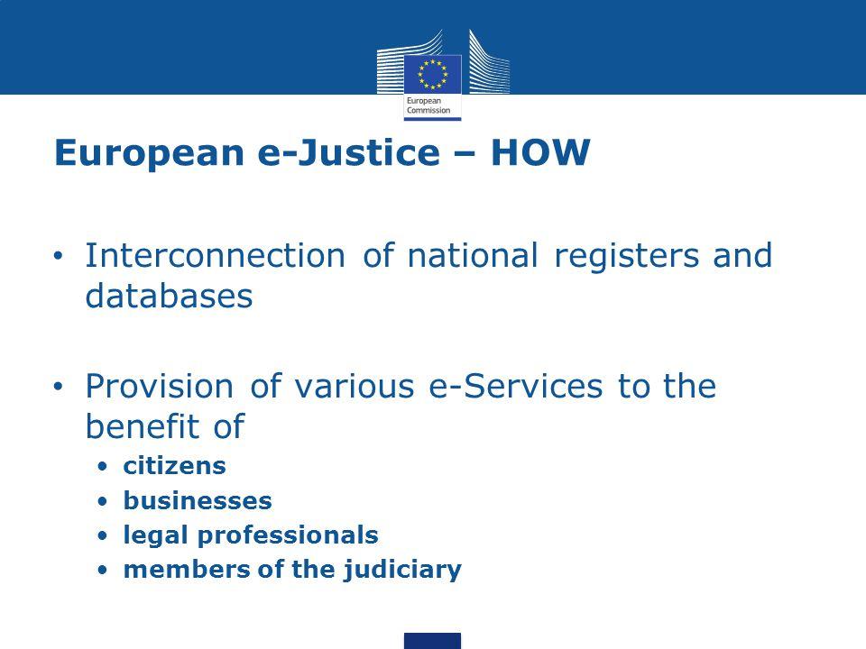 European e-Justice – HOW
