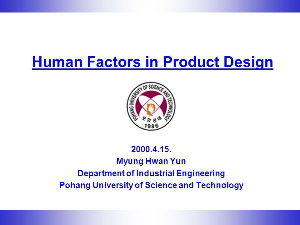 Human Factors in Product Design