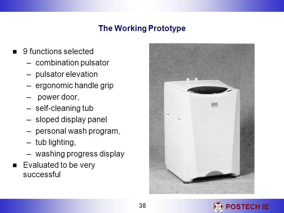 The Working Prototype9 functions selected. combination pulsator. pulsator elevation. ergonomic handle grip.