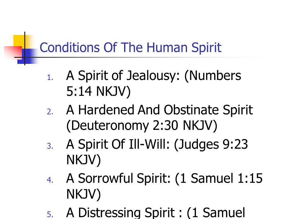Conditions Of The Human Spirit