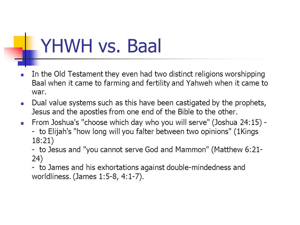 YHWH vs. Baal