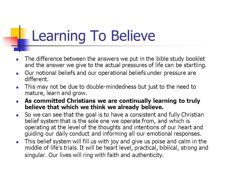 Learning To Believe