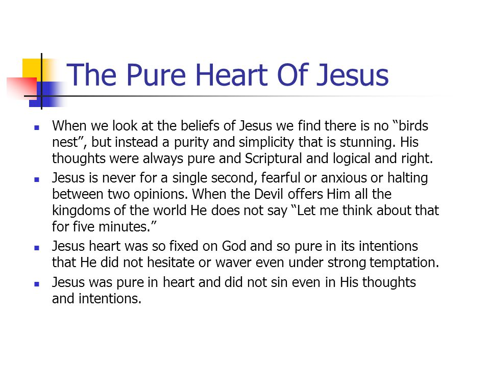 The Pure Heart Of Jesus