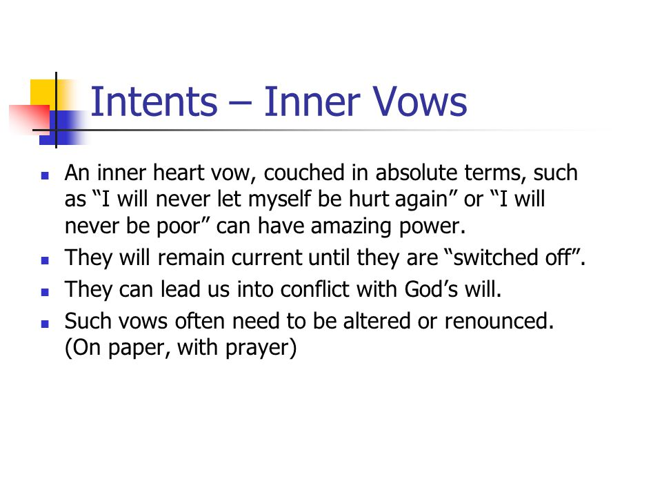 Intents – Inner Vows