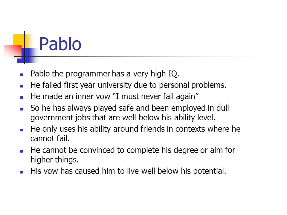 Pablo Pablo the programmer has a very high IQ.