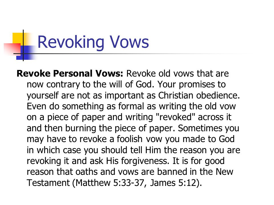 Revoking Vows