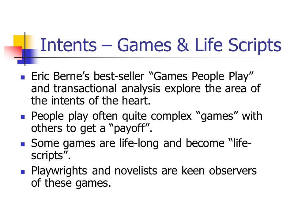 Intents – Games & Life Scripts