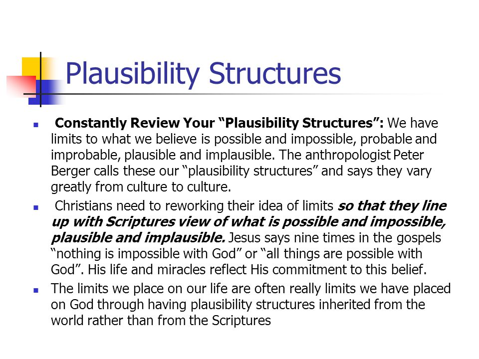 Plausibility Structures