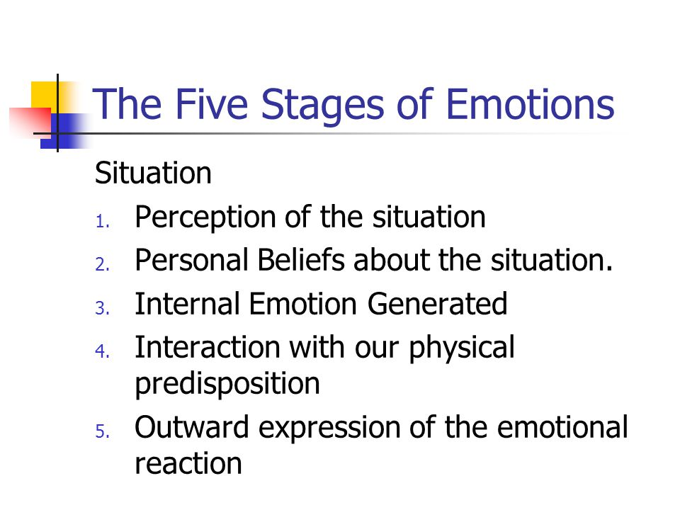 The Five Stages of Emotions