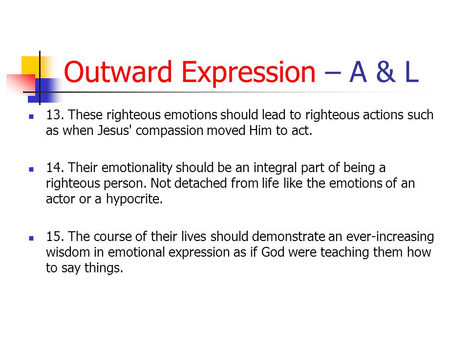 Outward Expression – A & L