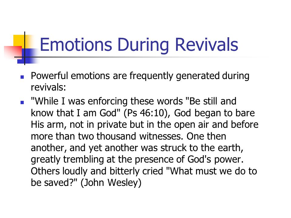 Emotions During Revivals