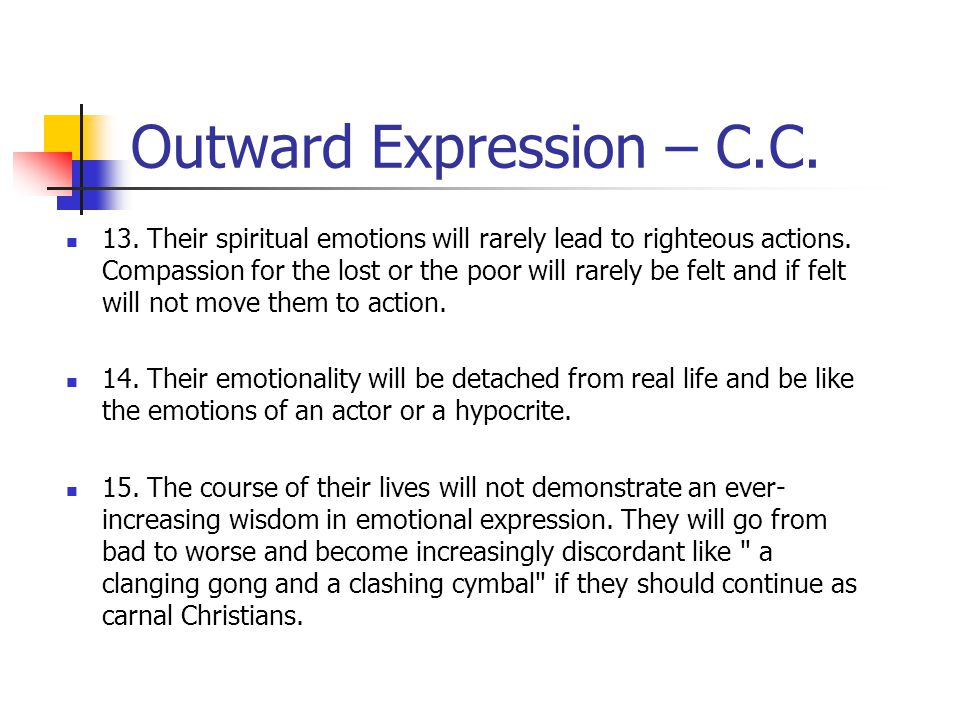 Outward Expression – C.C.