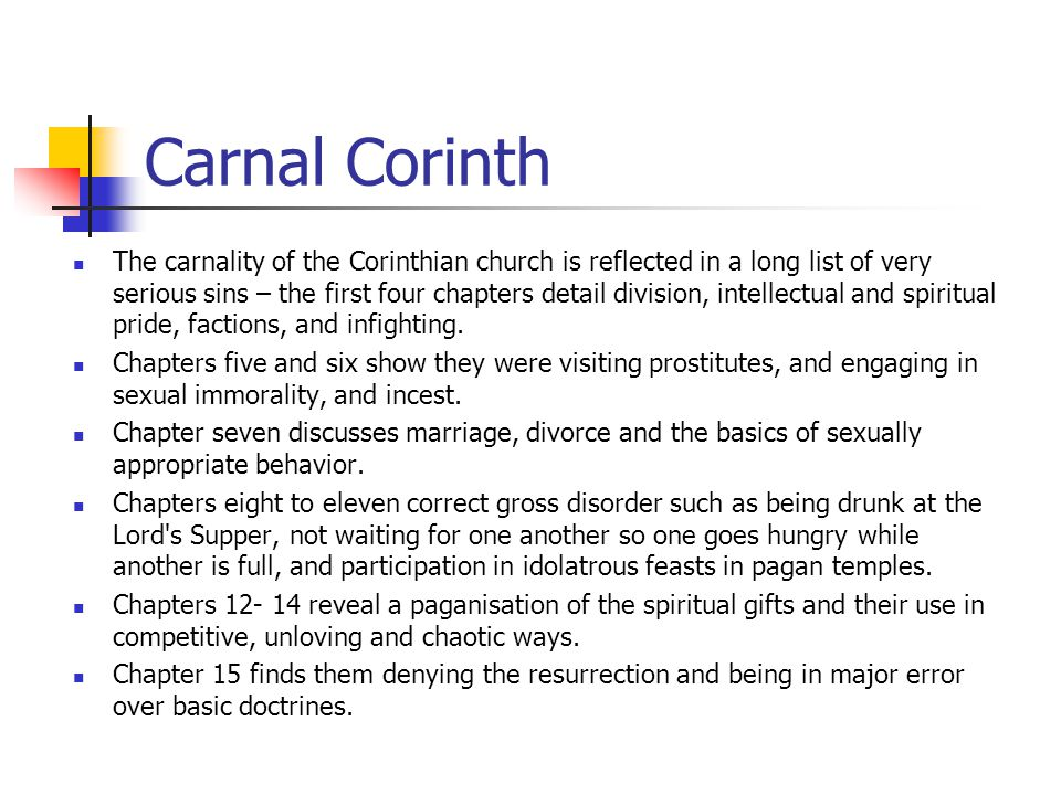 Carnal Corinth