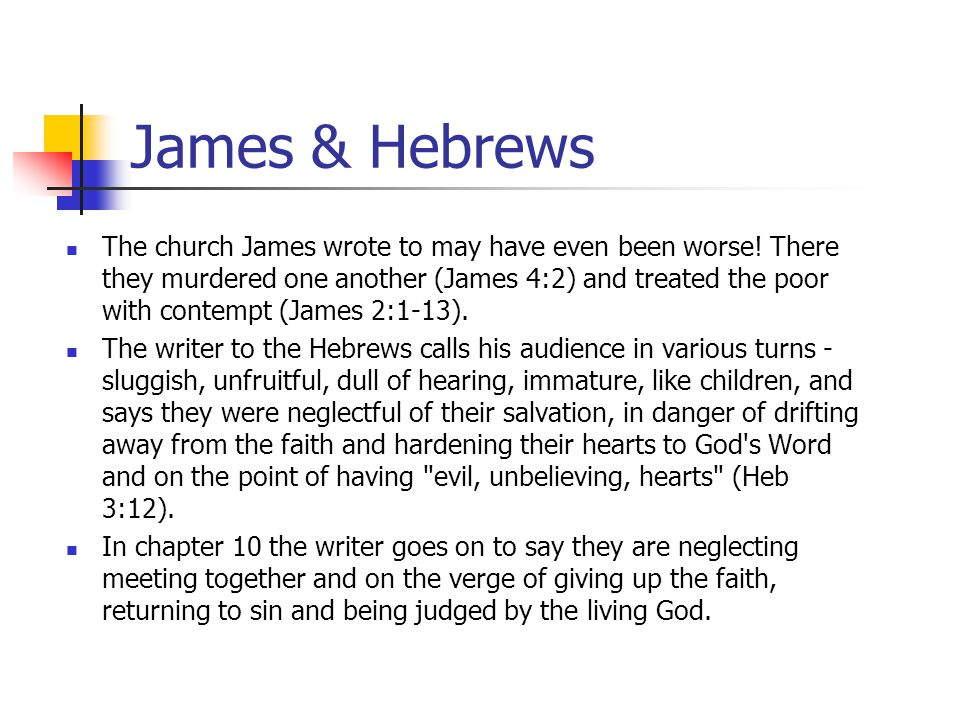 James & Hebrews