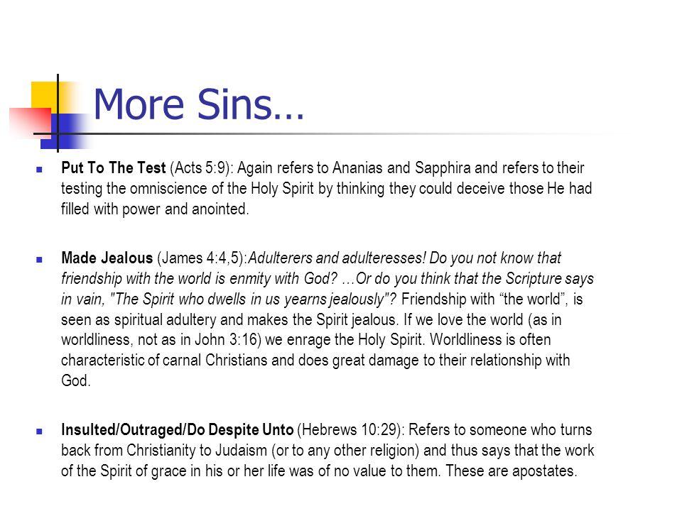 More Sins…