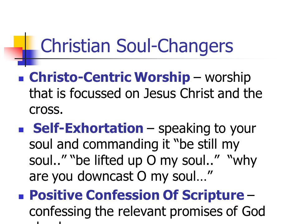 Christian Soul-Changers