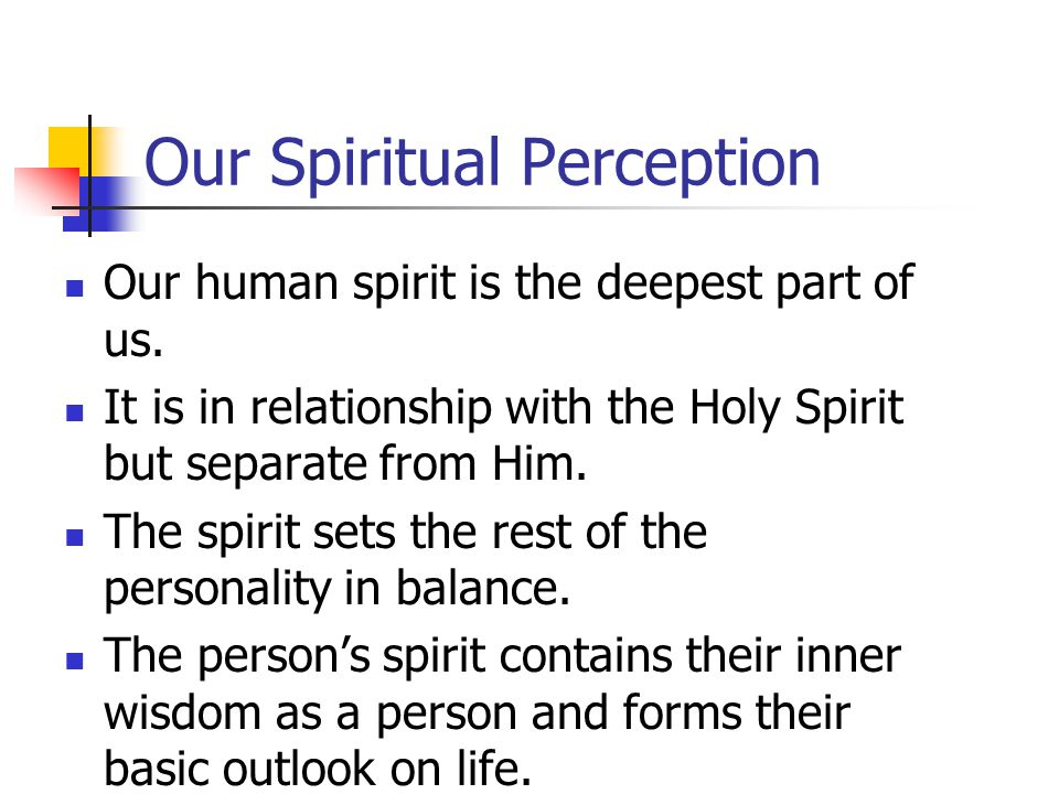 Our Spiritual Perception