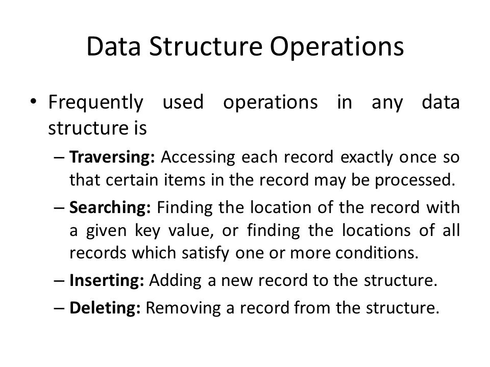 Data Structure Operations