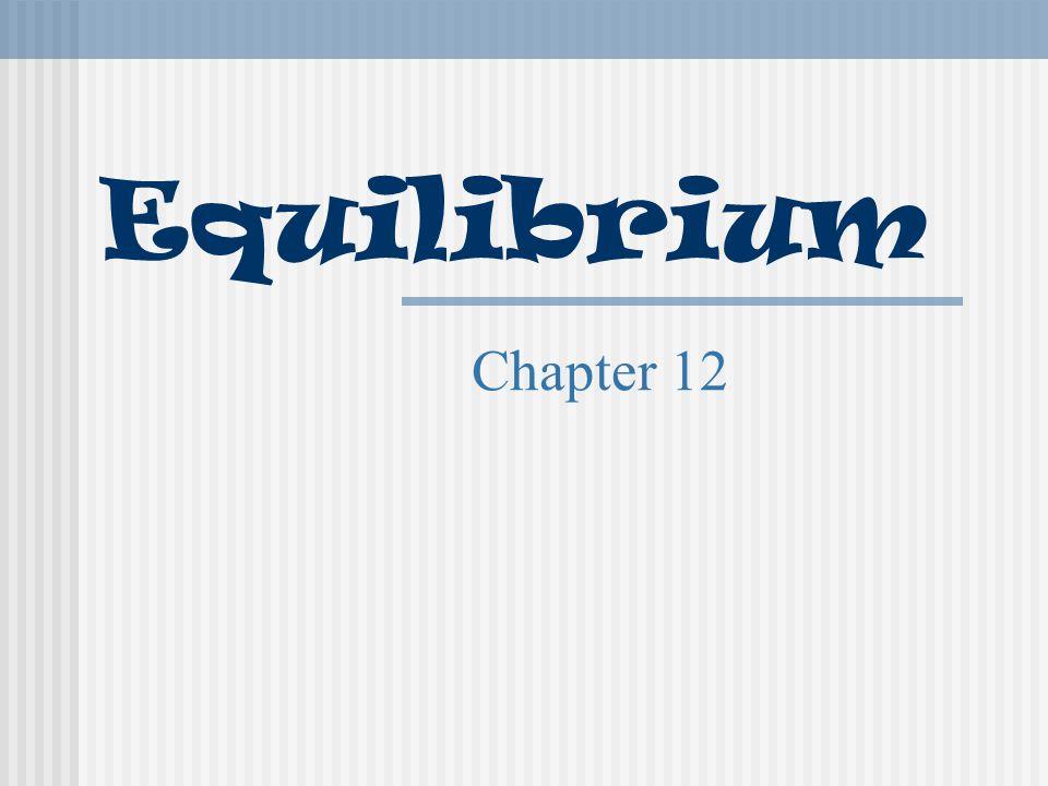 Equilibrium Chapter 12